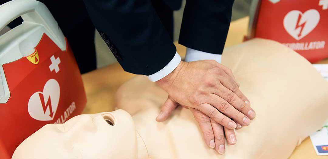 Defibrillator (AED) für Laienhelfer