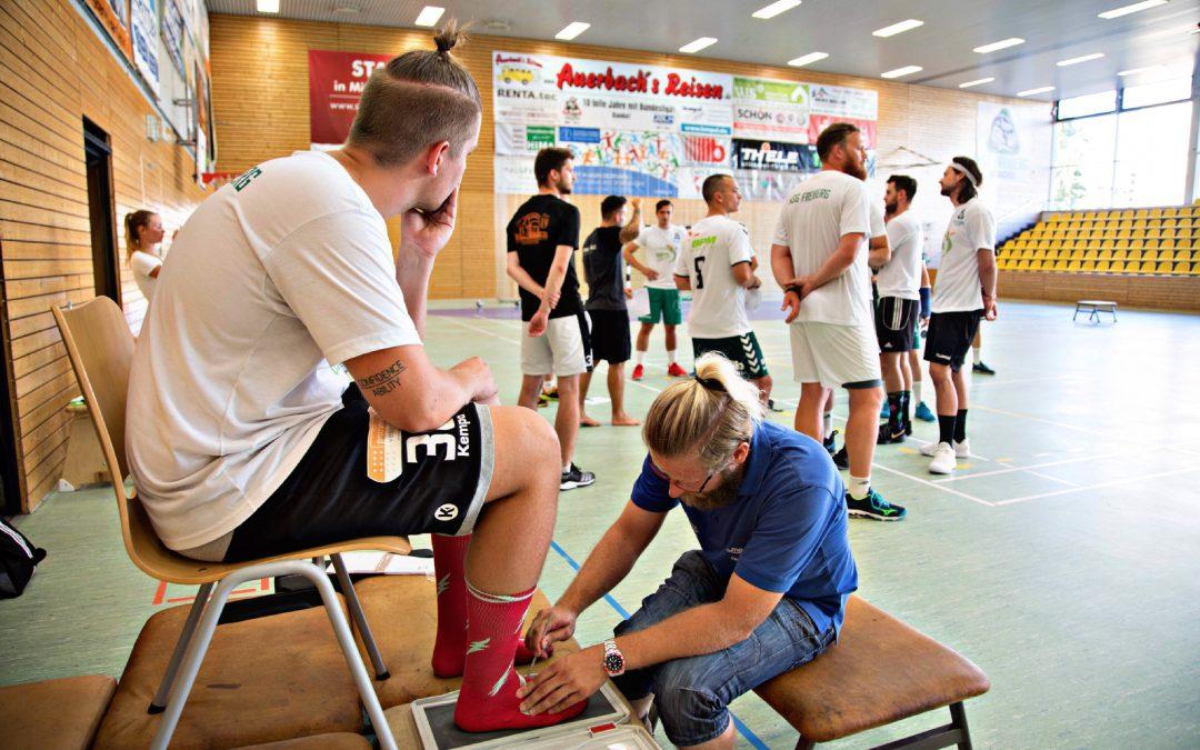 Die Handballer des HSG Freiberg –Die Dachse